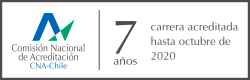 Carrera acreditada por 7 años hasta octubre de 2020, impartida en Santiago, en jornada diurna y modalidad presencial. Acreditadora en Ciencias de la Salud AACS